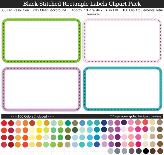 Love these rainbow label clipart for my binders and planner. 100 colors!