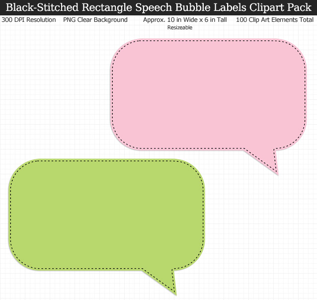 Love these rainbow speech bubble label clipart for my binders and planner. 100 colors!