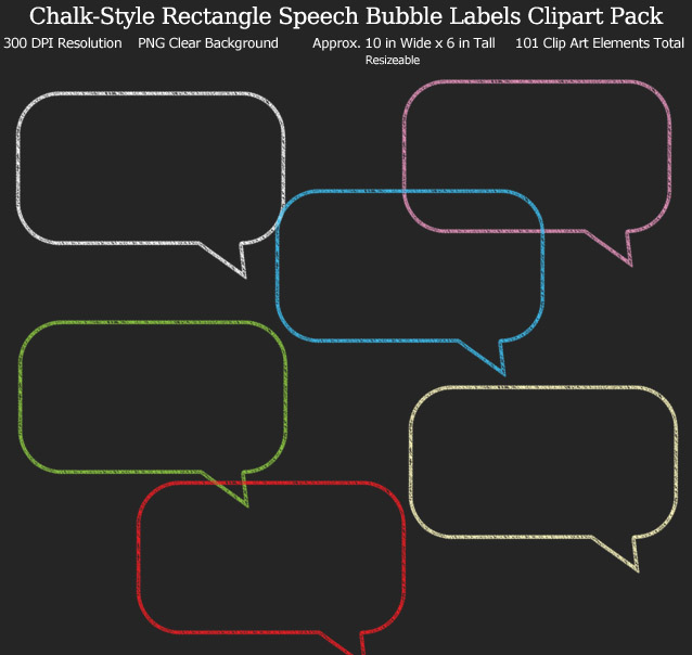 Love these rainbow speech bubble label clipart for my binders and planner. 101 colors!