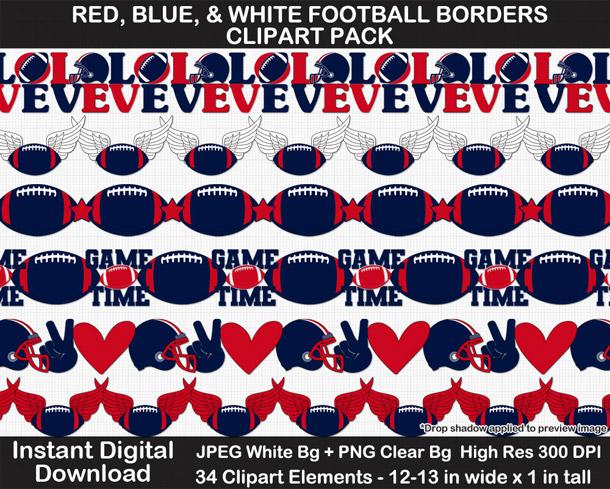 Love these fun football borders clipart! Go Texans!