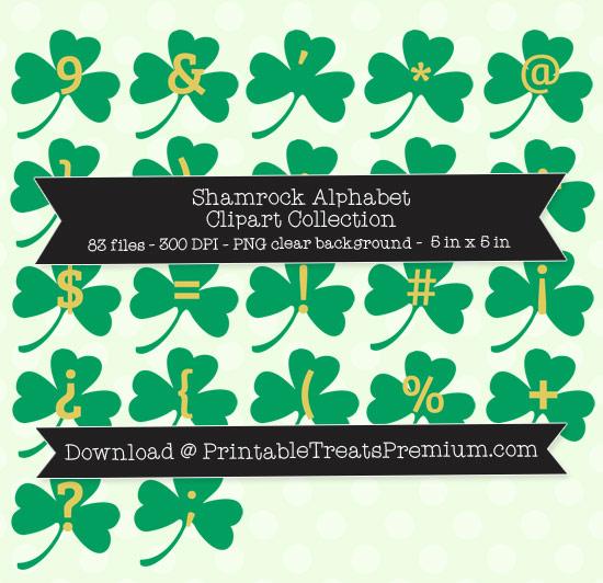Shamrock Alphabet Clipart Collection