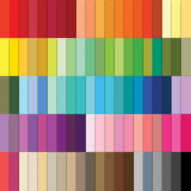 100 Colors Solid Color Digital Paper Pack