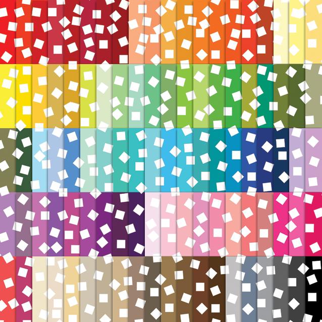 Square Confetti Digital Paper Pack - 100 Colors!