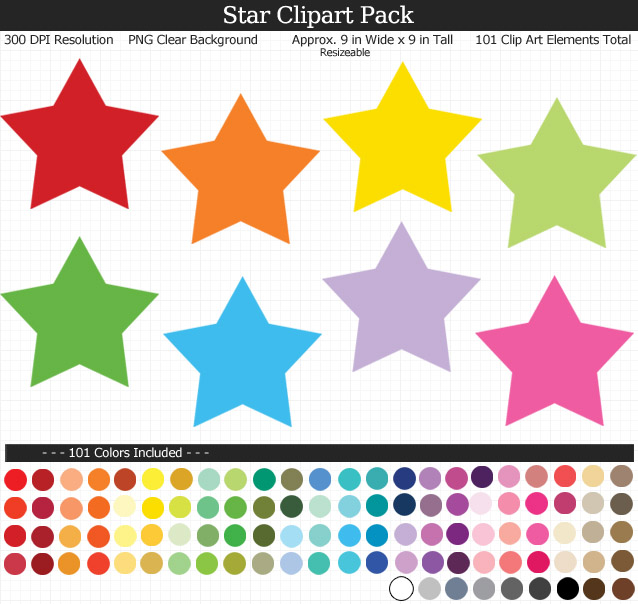 Stars Clipart Pack