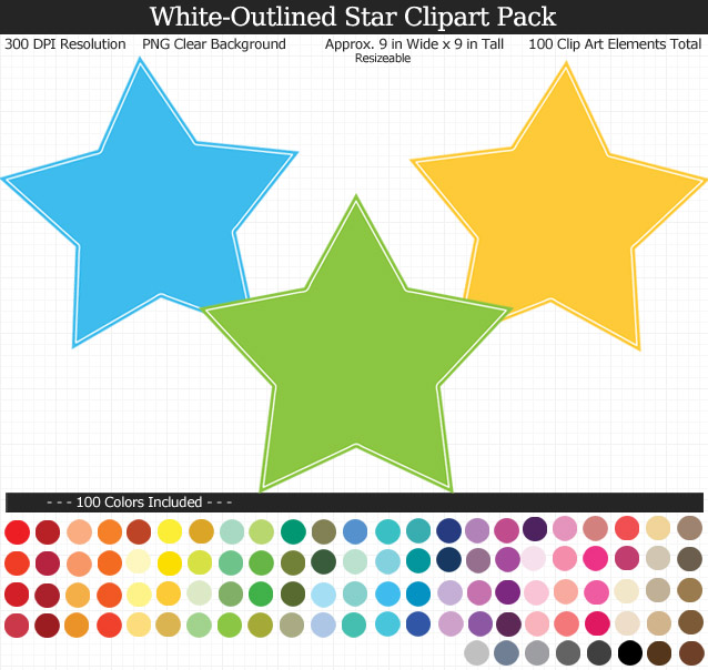 Star Clipart Pack
