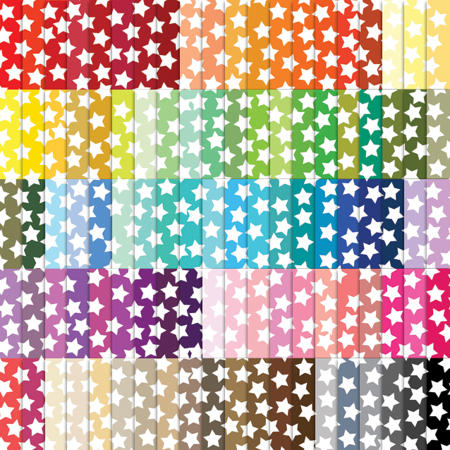 100 Colors Star Confetti Digital Paper Pack