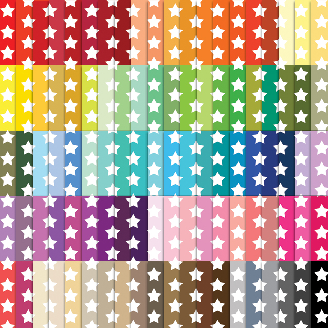Star Pattern Digital Paper Pack - 100 Colors!