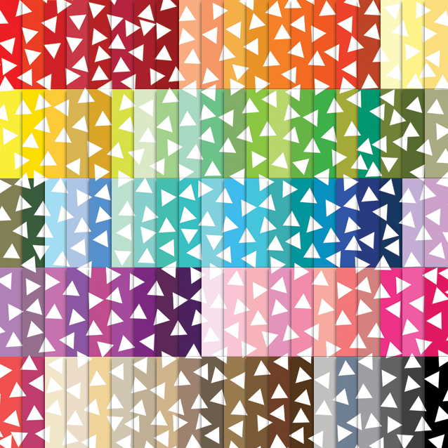 100 Colors Triangle Confetti Digital Paper Pack