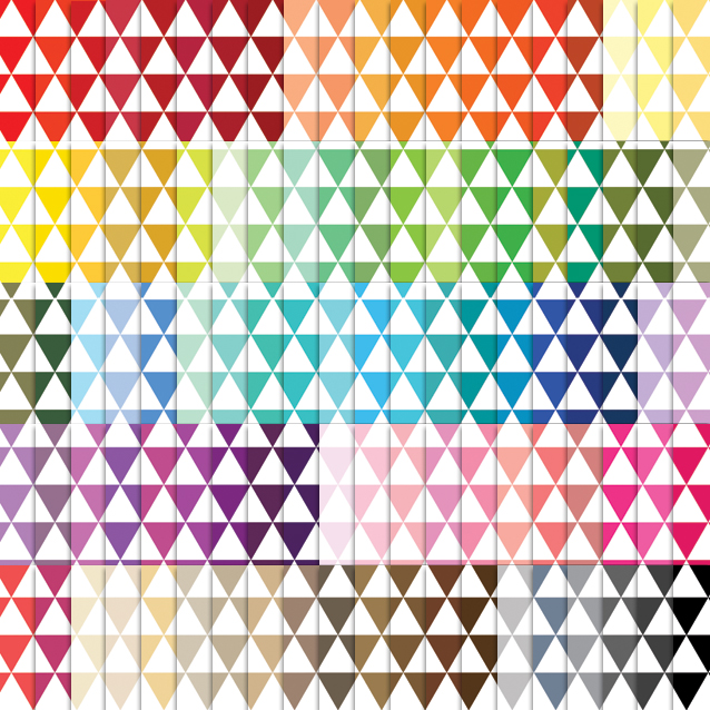 Triangles Pattern Digital Paper Pack - 100 Colors!