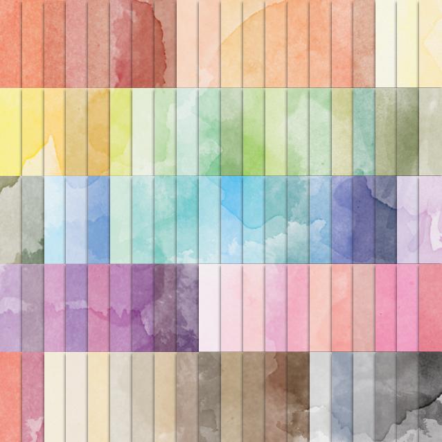 Watercolor Digital Paper Pack - 100 Colors!
