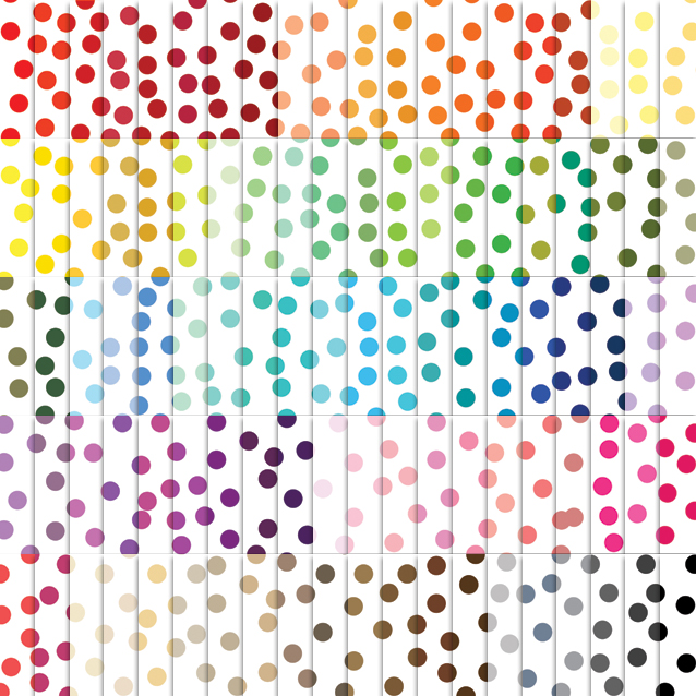 100 Colors White Background Confetti Digital Paper Pack