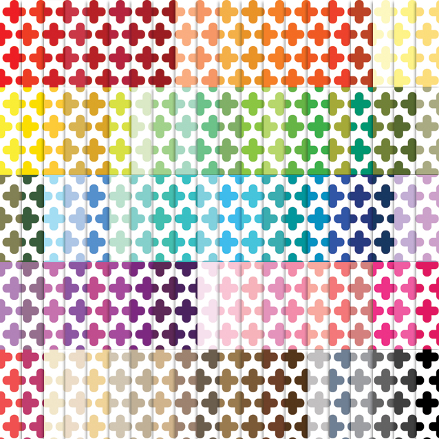 100 Colors White Background Cross Digital Paper Pack