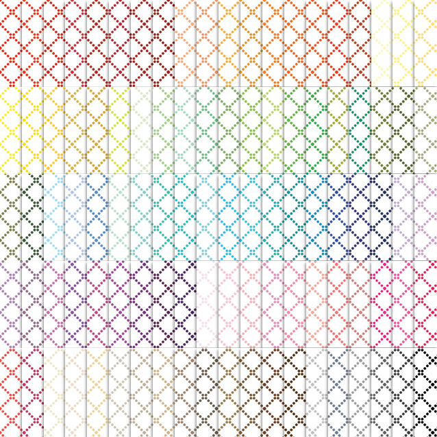 100 Colors White Background Dotted Trellis Digital Paper Pack