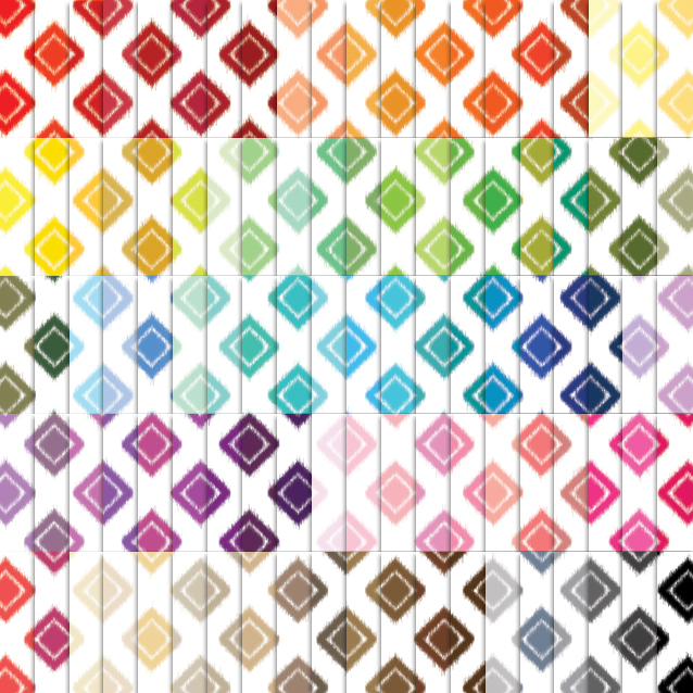 100 Colors White Background Ikat Diamond Digital Paper Pack