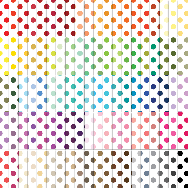 Polka Dot Pattern Digital Paper Pack - 100 Colors!