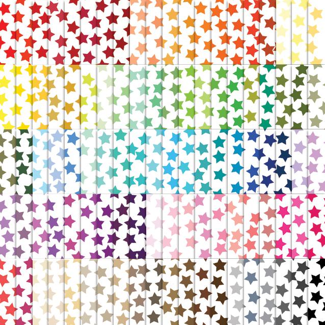 Star Confetti Digital Paper Pack - 100 Colors!