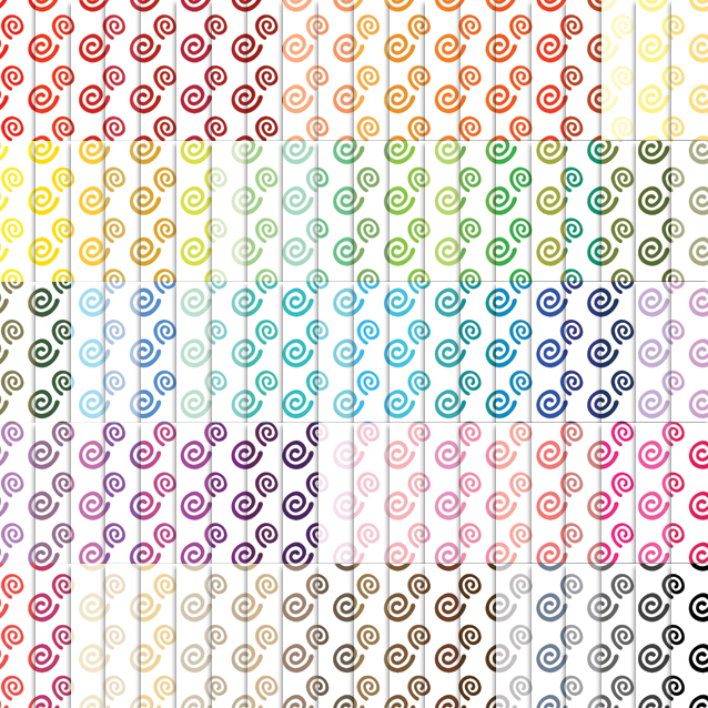100 Colors White Background Swirls Digital Paper Pack