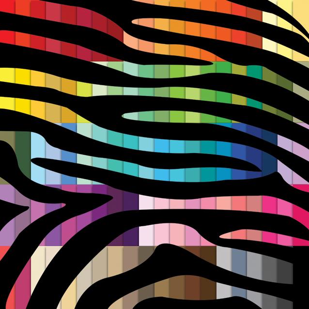 100 Colors Zebra Print Digital Paper Pack